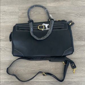 Black Weekender Travel Bag